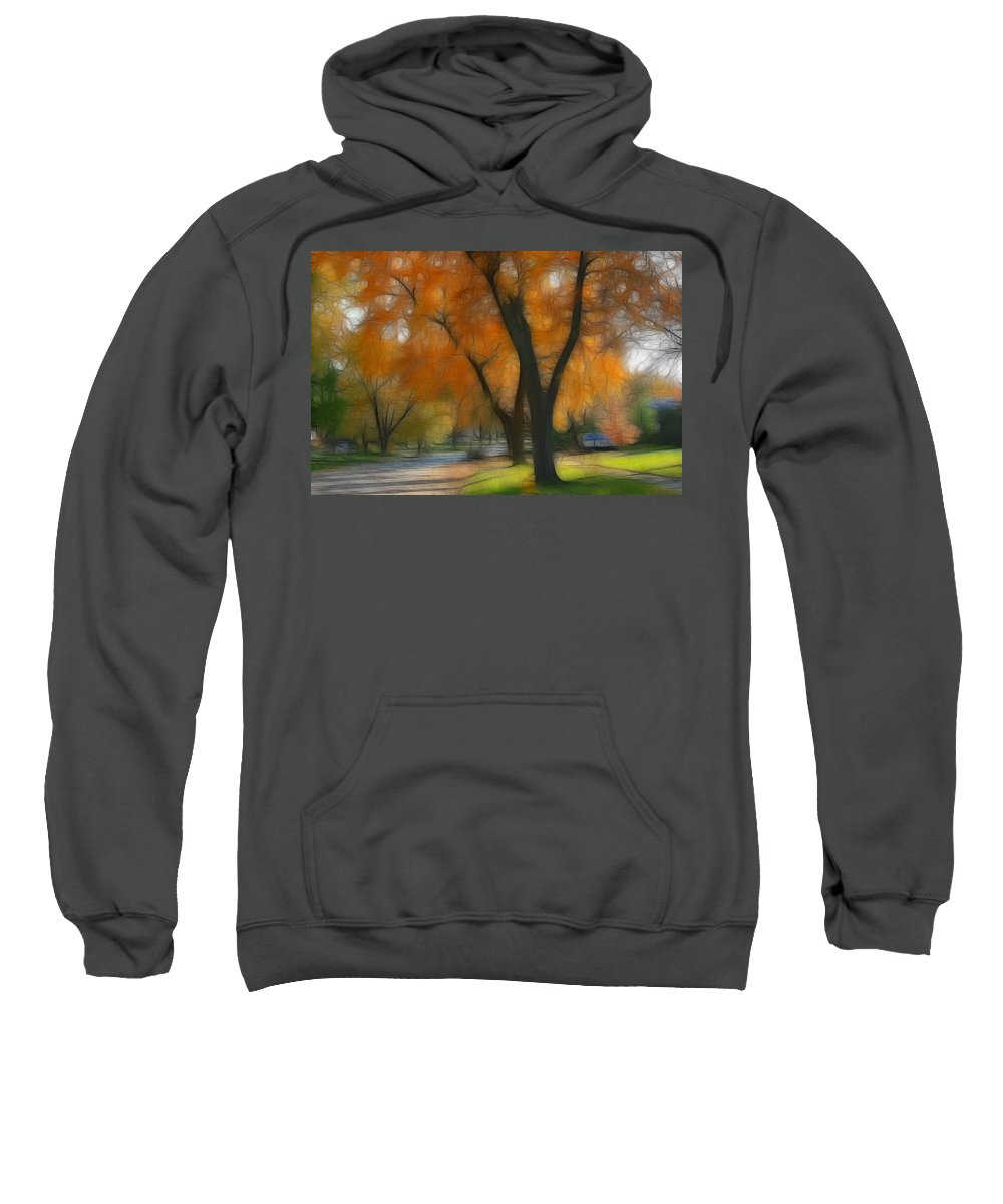 Autumn Sweatshirt featuring the photograph Memory Of An Autumn Day by Lyle Hatch