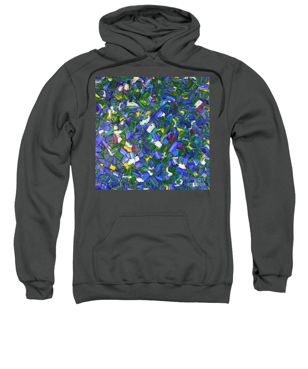 Mermaid Sweatshirt featuring the painting Mermaid by Dawn Hough Sebaugh