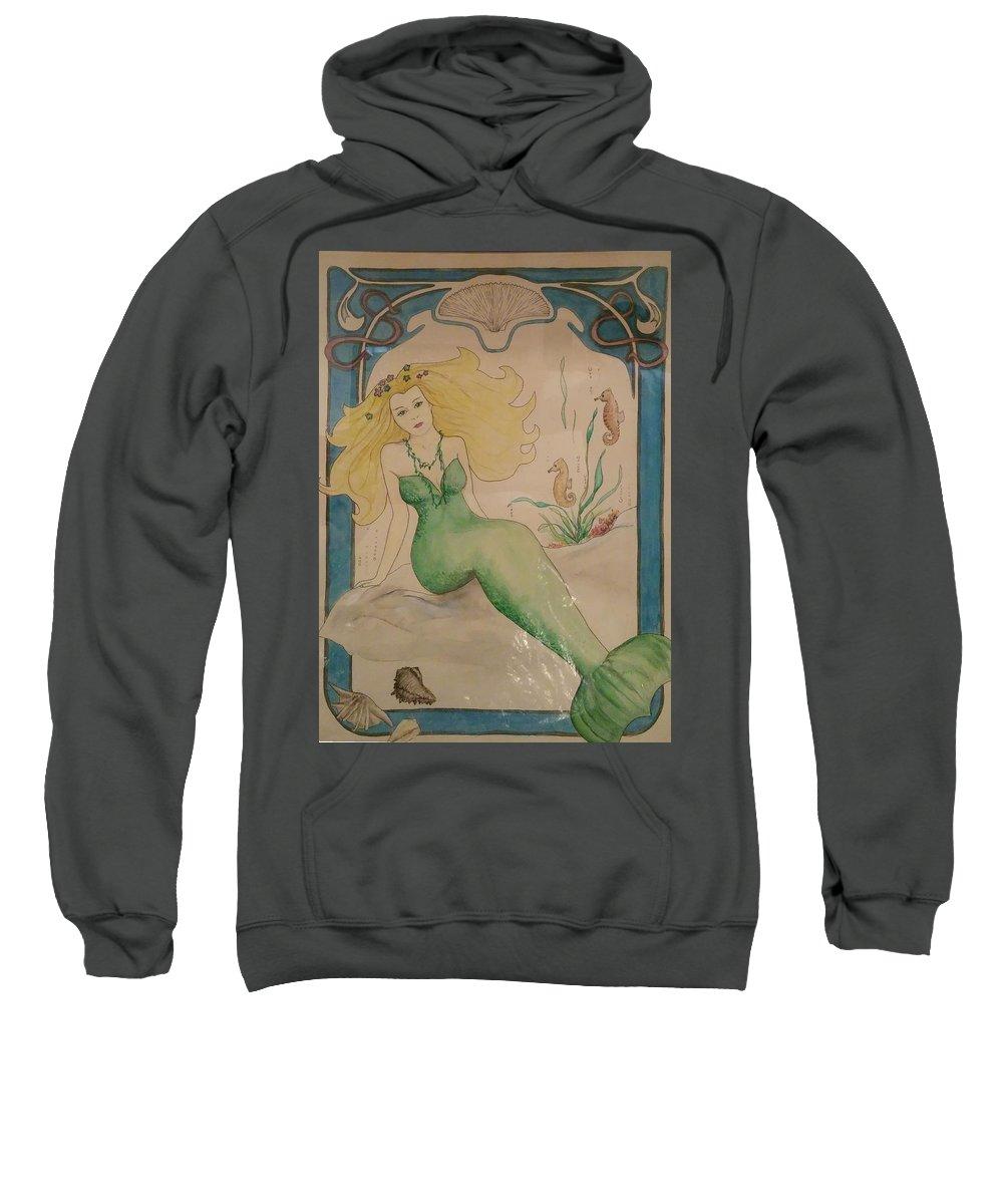 Sweatshirt featuring the painting Mermaid by Jan Marie