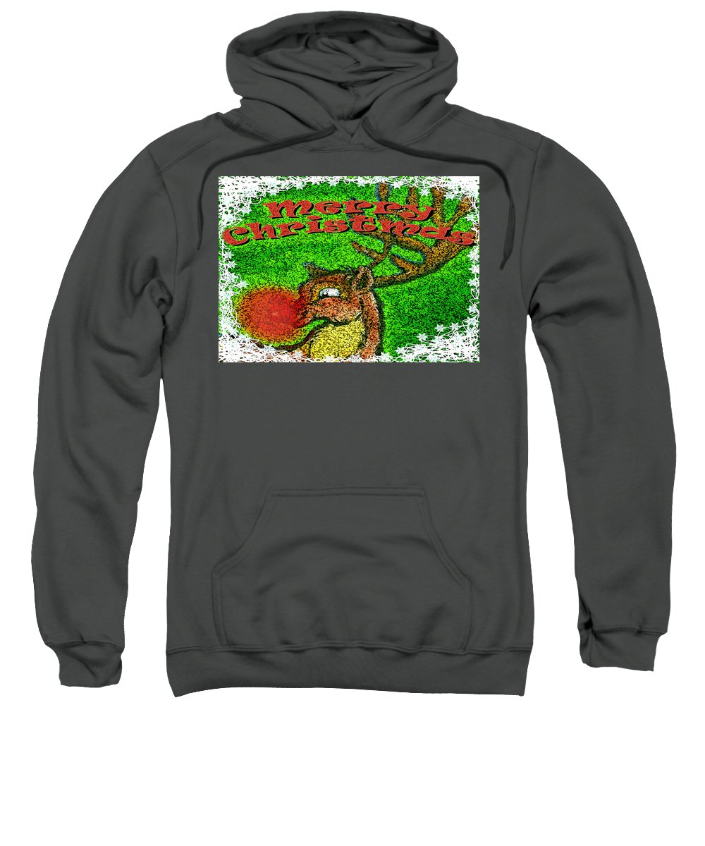 Christmas Sweatshirt featuring the greeting card Merry Christmas by Kevin Middleton