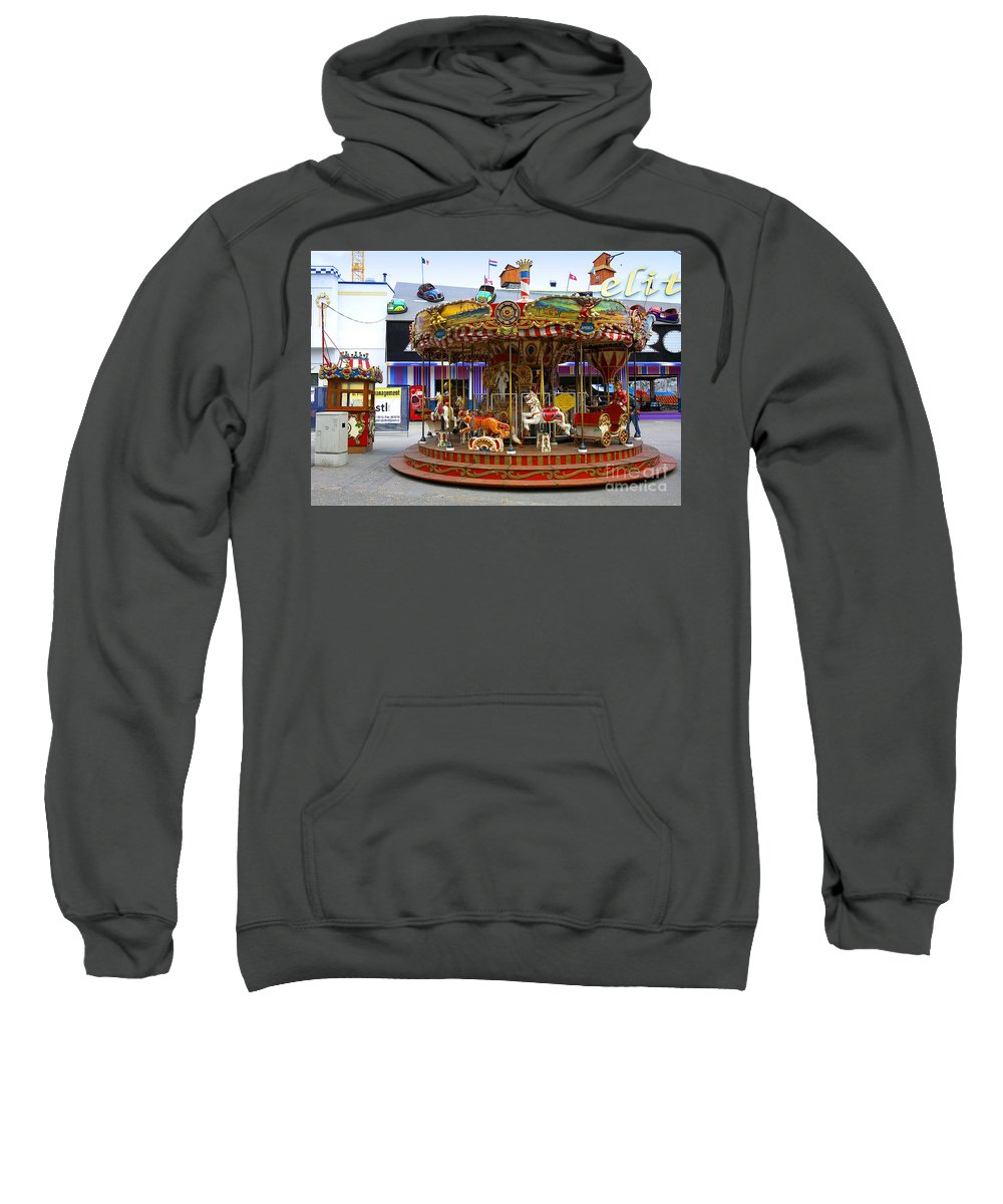 Merry-go-round Sweatshirt featuring the photograph Merry-go-round At The Prater by Madeline Ellis