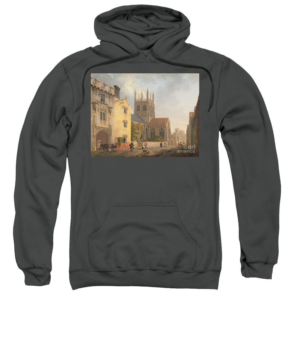 Xyc111927 Sweatshirt featuring the photograph Merton College - Oxford by Michael Rooker