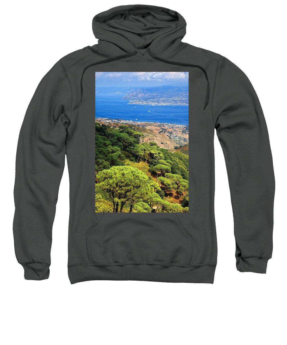 Italy Sweatshirt featuring the photograph Messina Strait - Italy by Silvia Ganora