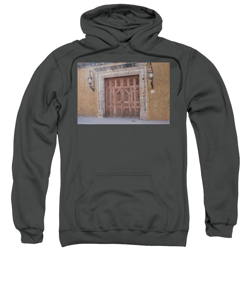 Mexico Sweatshirt featuring the photograph Mexico Door 1 By Tom Ray by First Star Art