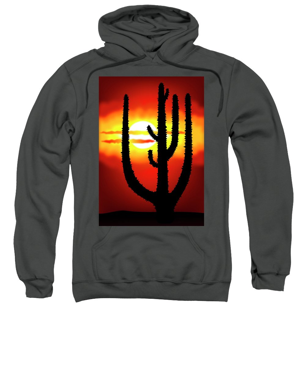Symbol Sweatshirt featuring the digital art Mexico Sunset by Michal Boubin