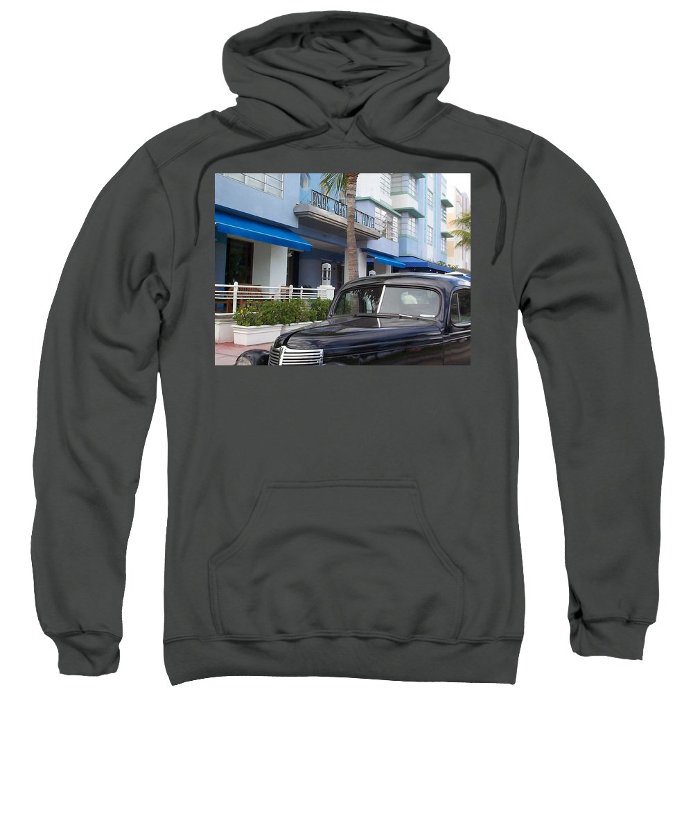 Charity Sweatshirt featuring the photograph Miami Beach by Mary-Lee Sanders