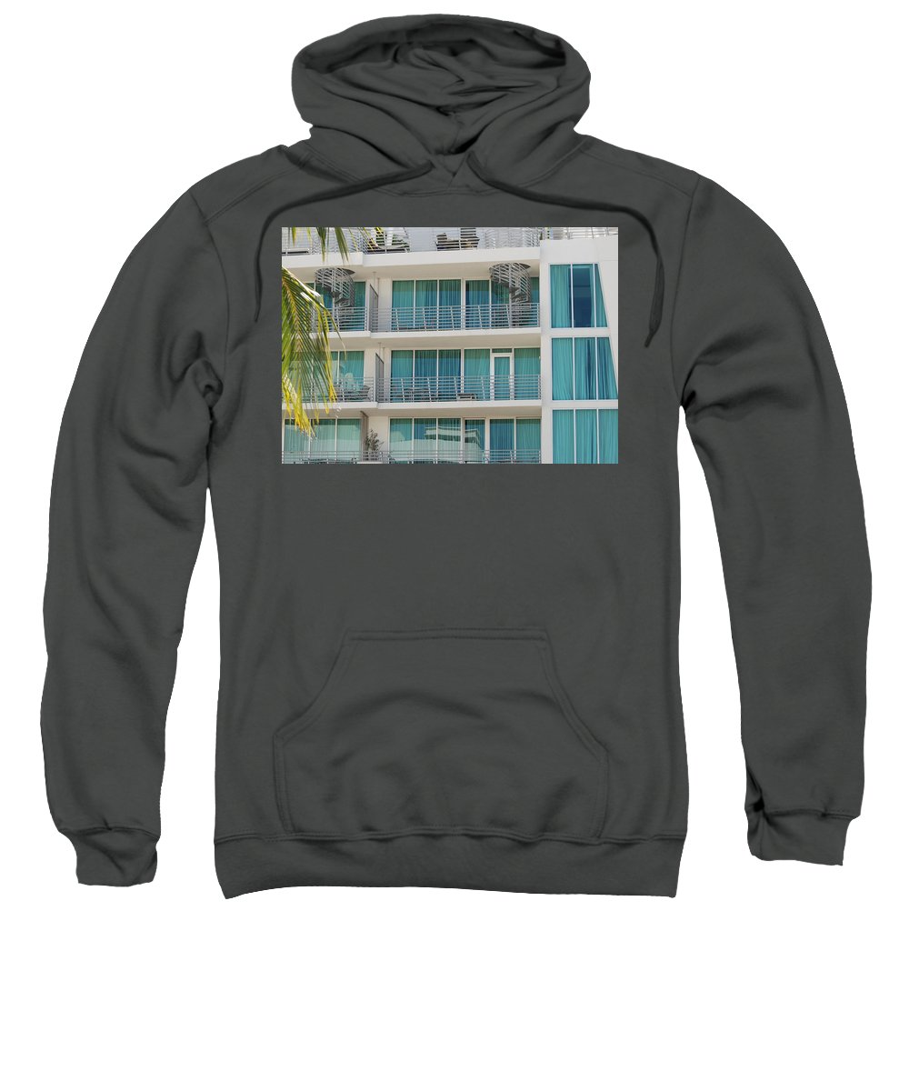 Architecture Sweatshirt featuring the photograph Miami Vice by Rob Hans