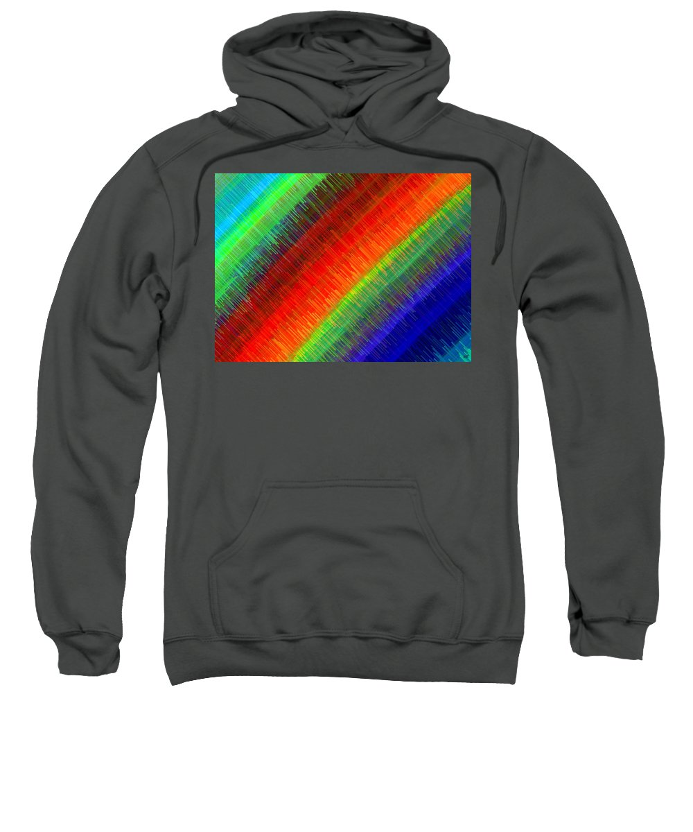 Micro Linear Sweatshirt featuring the digital art Micro Linear Rainbow by Will Borden