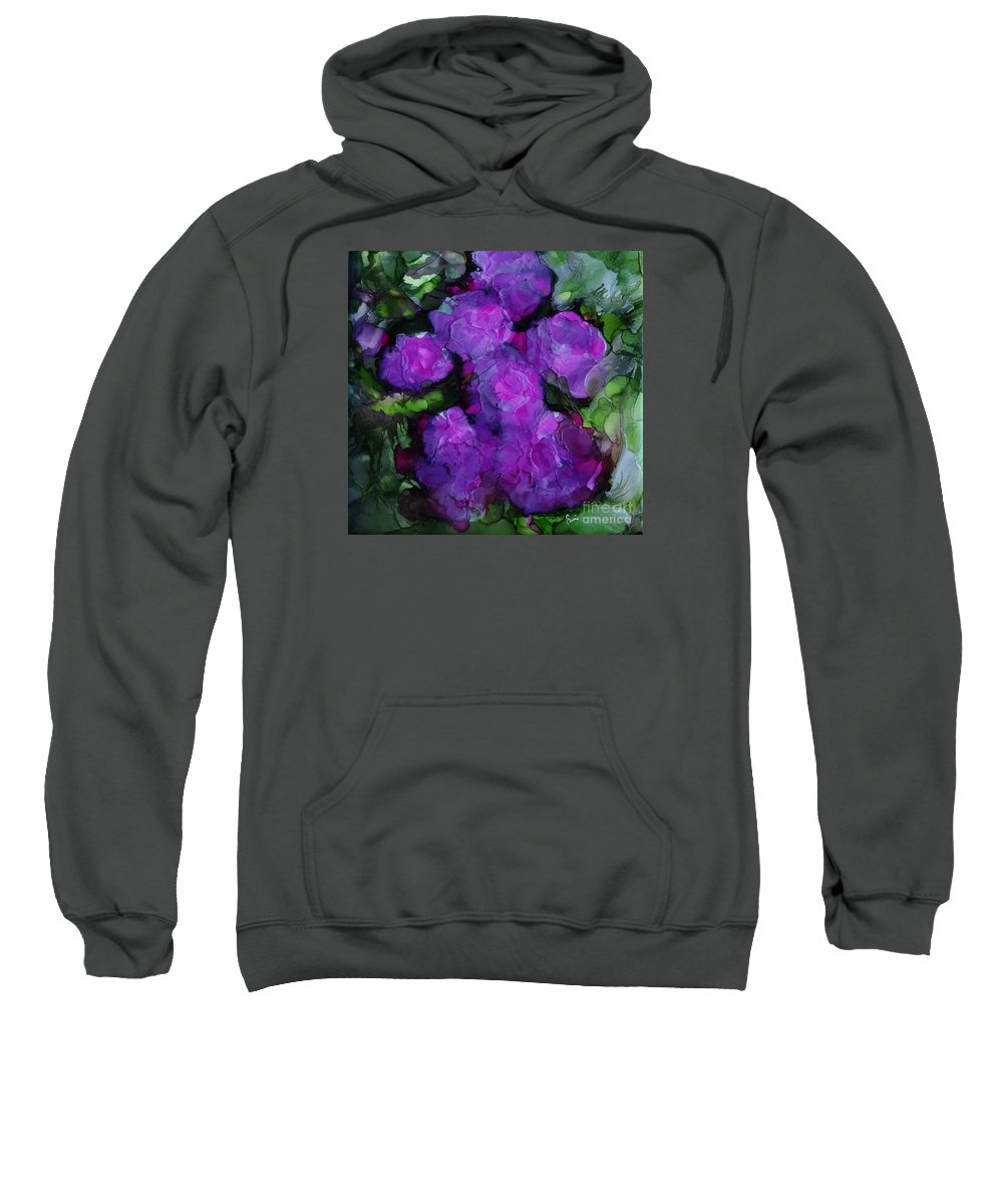 Abstract Sweatshirt featuring the painting Mid Summer Dream by Eunice Warfel