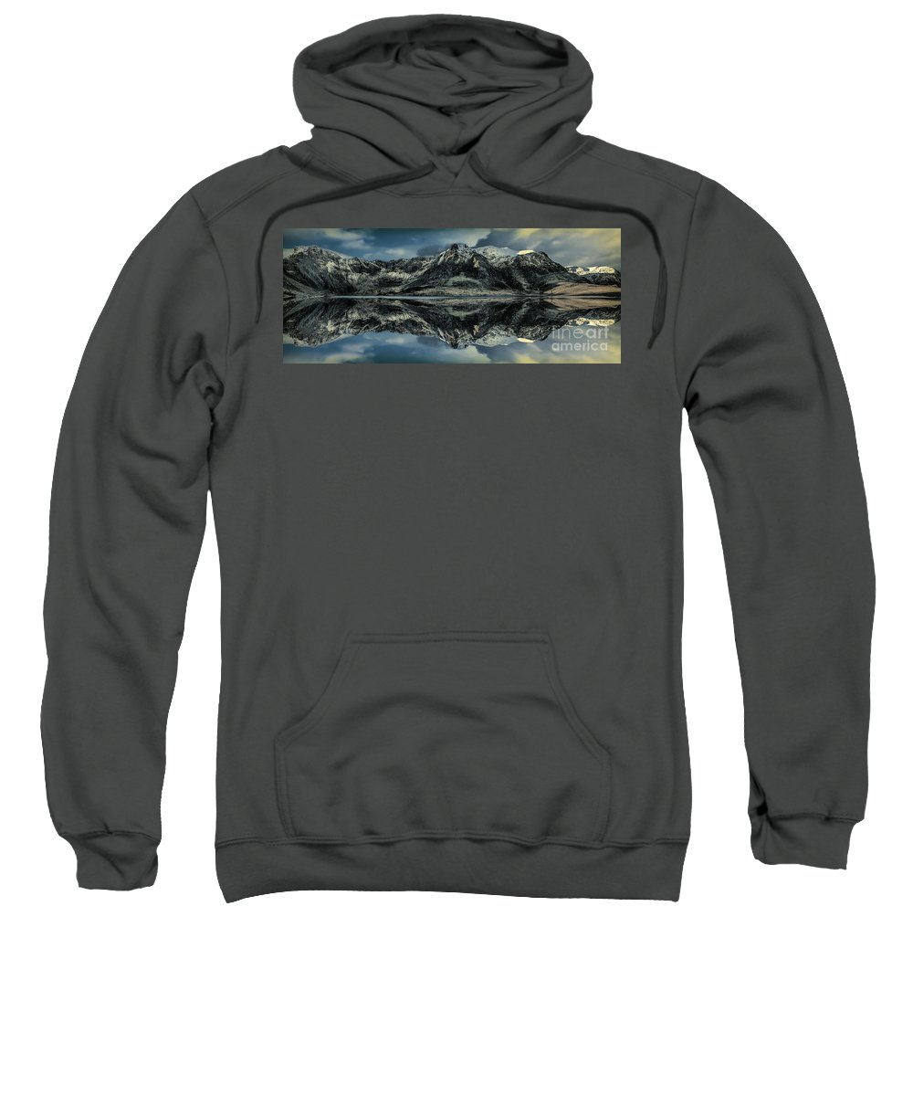 Landscape Sweatshirt featuring the photograph Midnight Lake by Adrian Evans