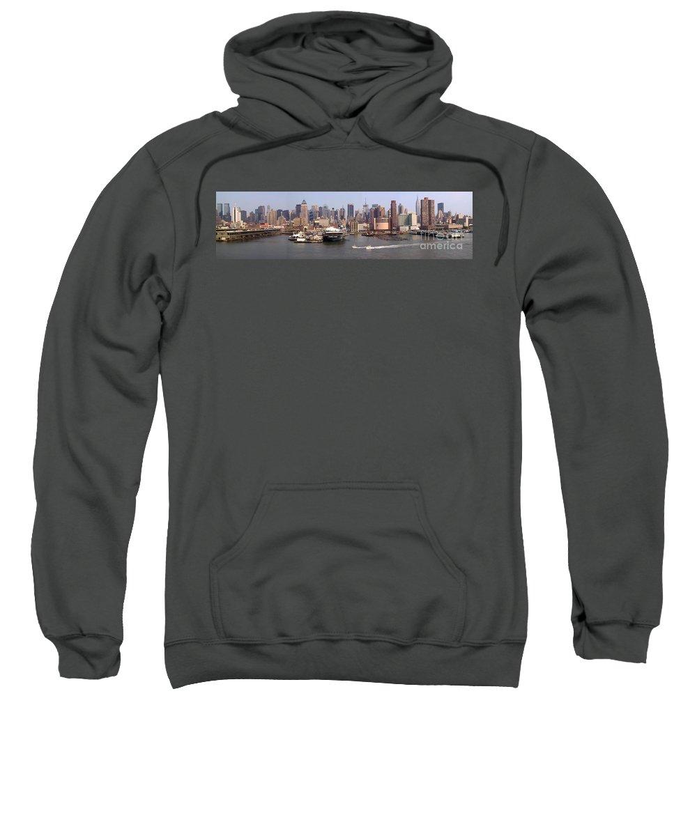 Manhattan Sweatshirt featuring the photograph Midtown Manhattan Panorama by Thomas Marchessault