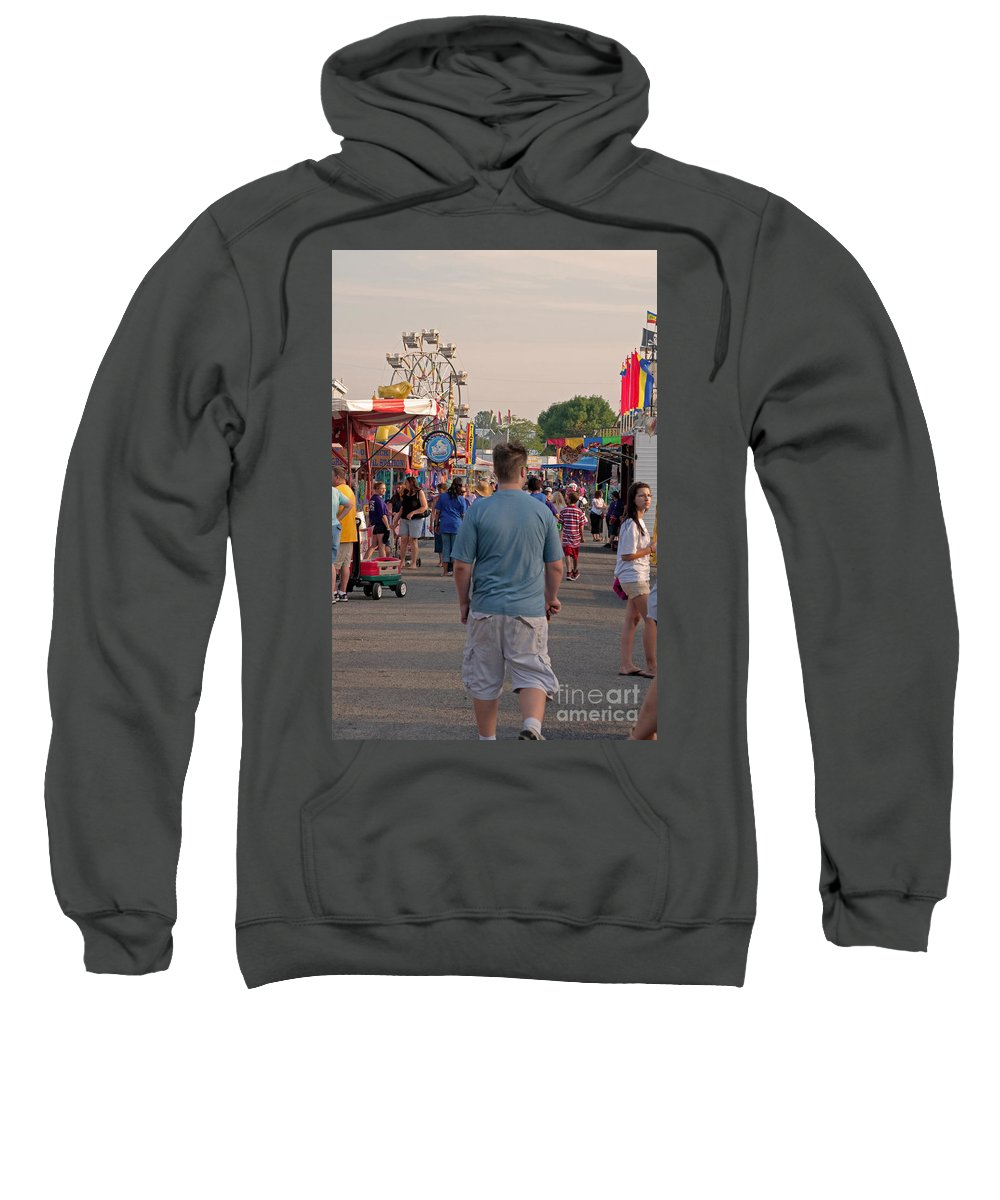 Fair Sweatshirt featuring the photograph Midway by Paulette B Wright