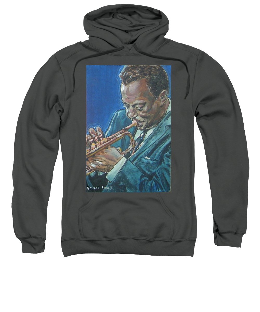 Miles Davis Sweatshirt featuring the painting Miles Davis by Bryan Bustard
