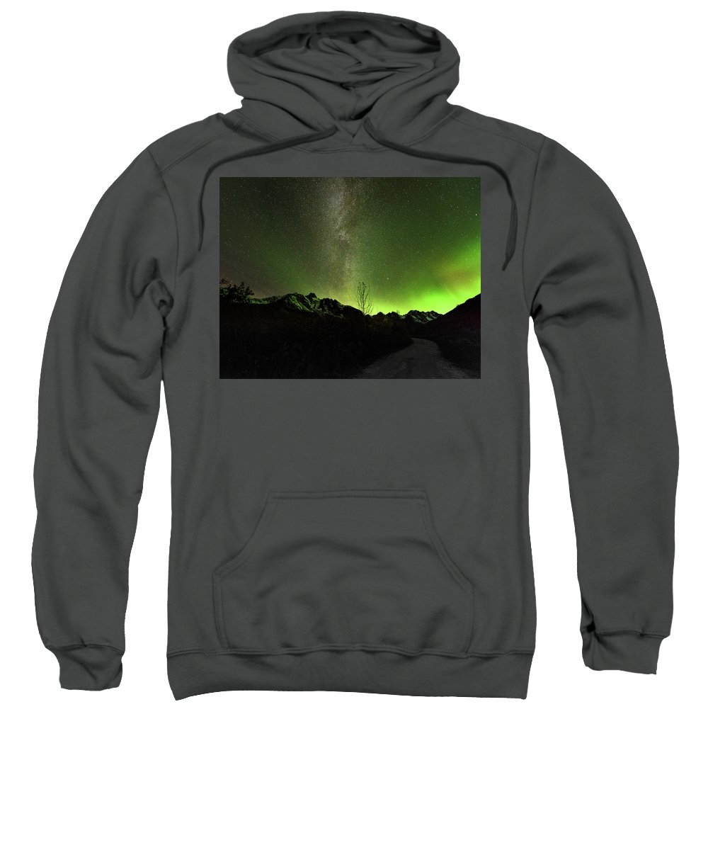 Sweatshirt featuring the photograph Milky Way by Nikolai Martusheff