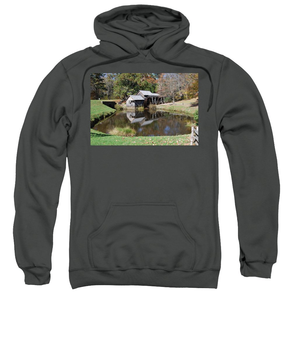 Virginia Sweatshirt featuring the photograph Mill Reflections by Eric Liller