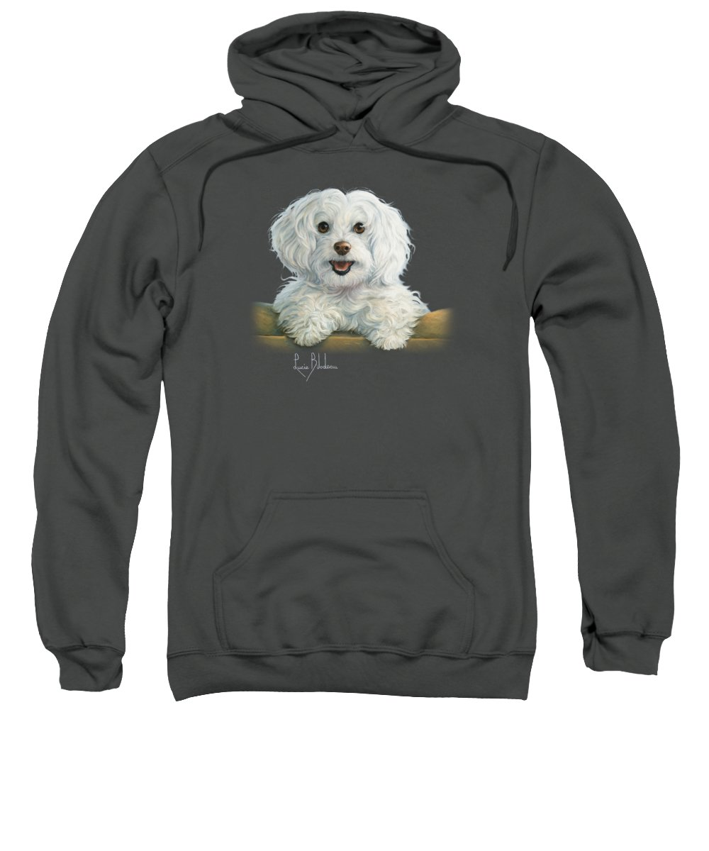 Dog Sweatshirt featuring the painting Mimi by Lucie Bilodeau