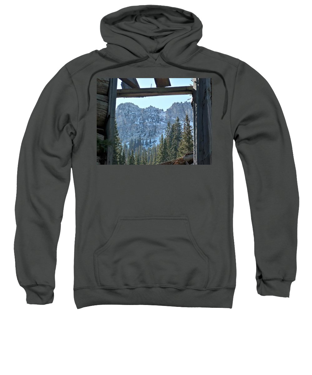 Mountain Sweatshirt featuring the photograph Miners Lost View by Michael Cuozzo
