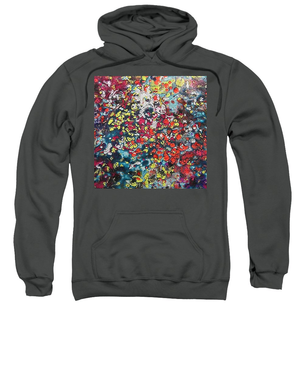 Mini Roses Sweatshirt featuring the painting Mini Roses by Dragica Micki Fortuna