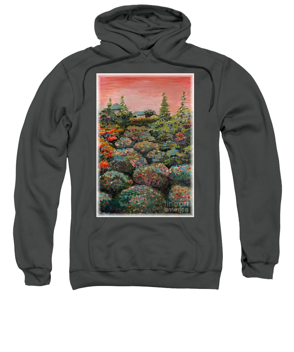 Minnesota Sweatshirt featuring the painting Minnesota Memories by Nadine Rippelmeyer