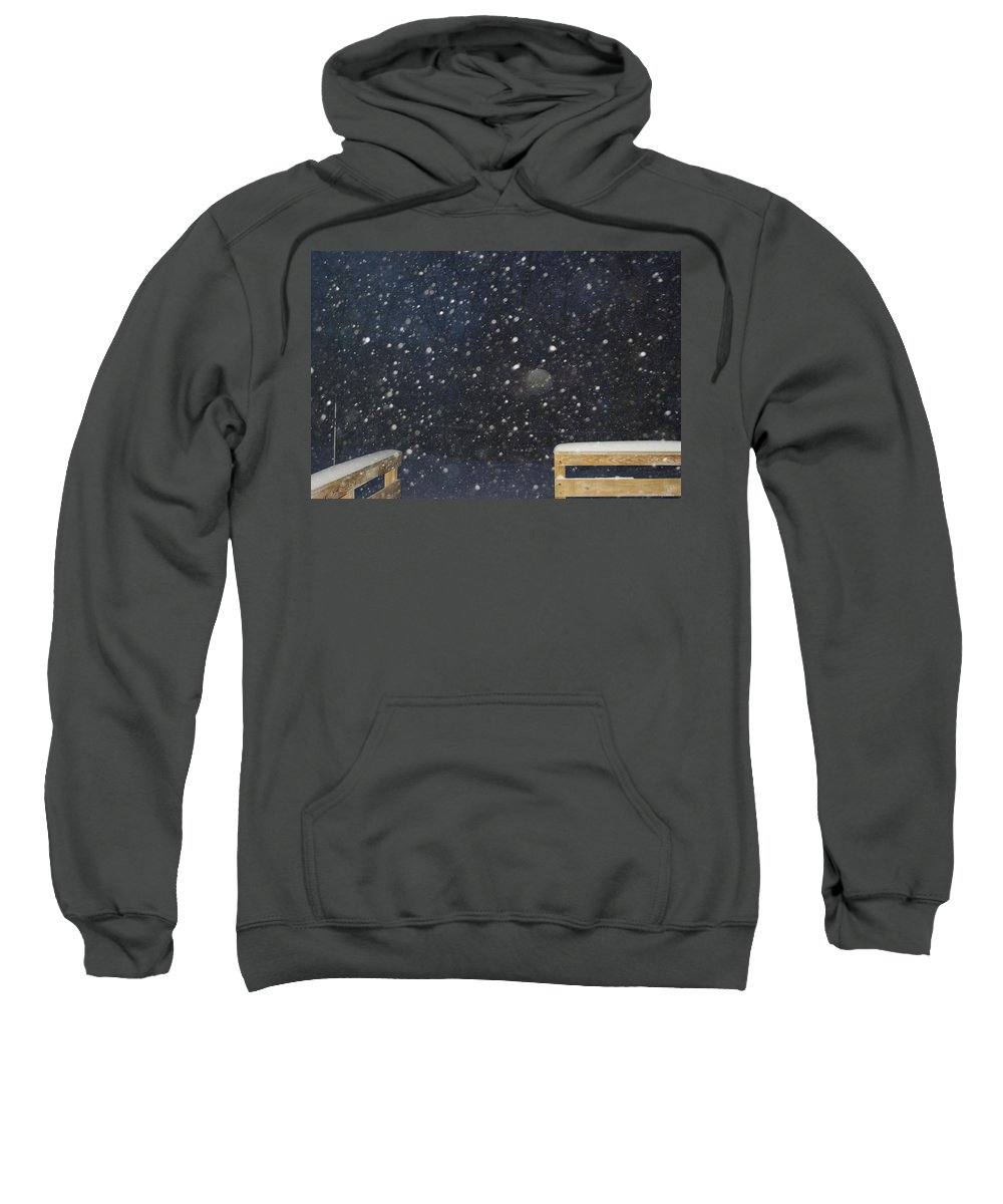 Snow Sweatshirt featuring the photograph Minnesota Snow by Alice Markham