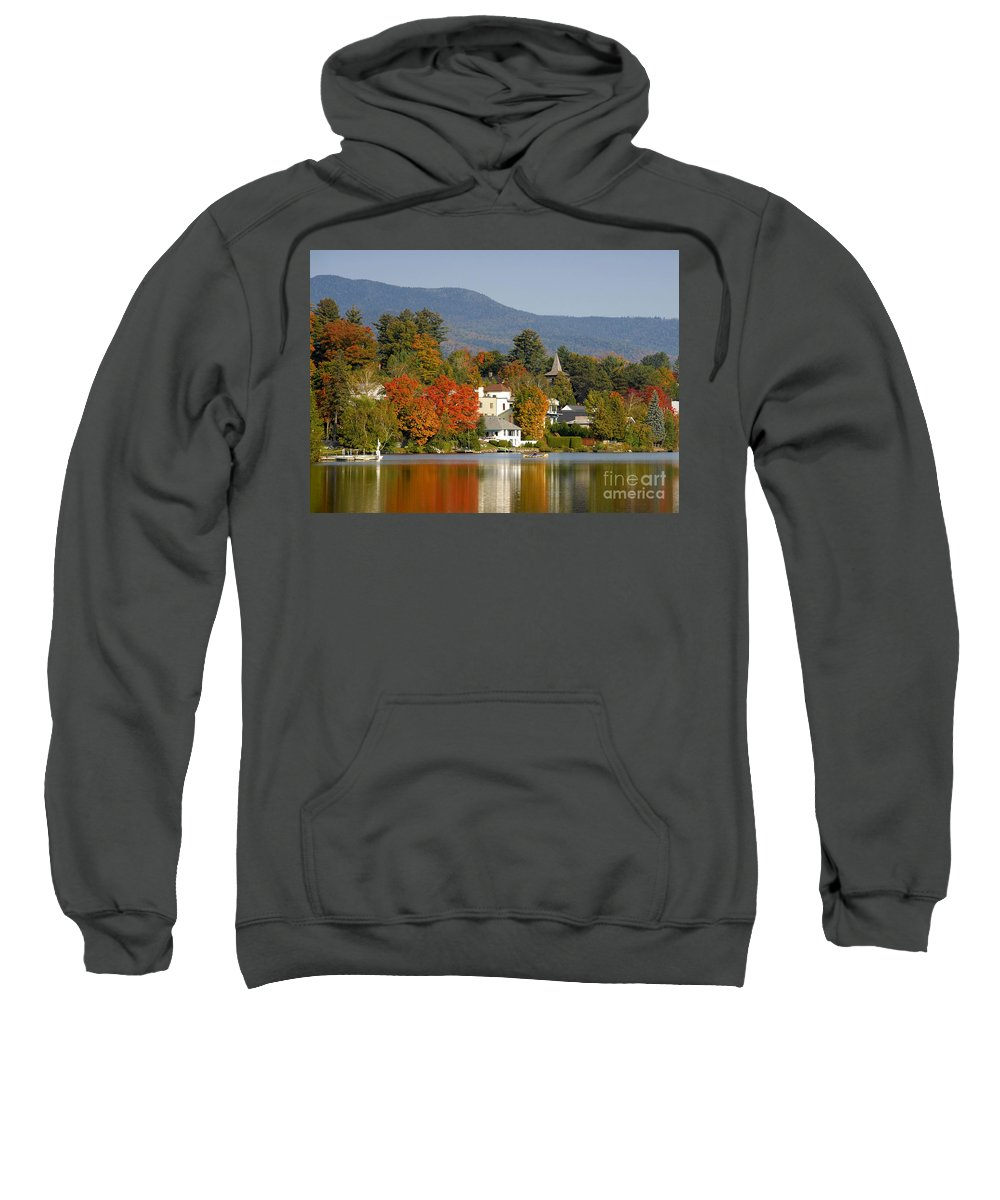 Adirondack Mountains Sweatshirt featuring the photograph Mirror Lake by David Lee Thompson