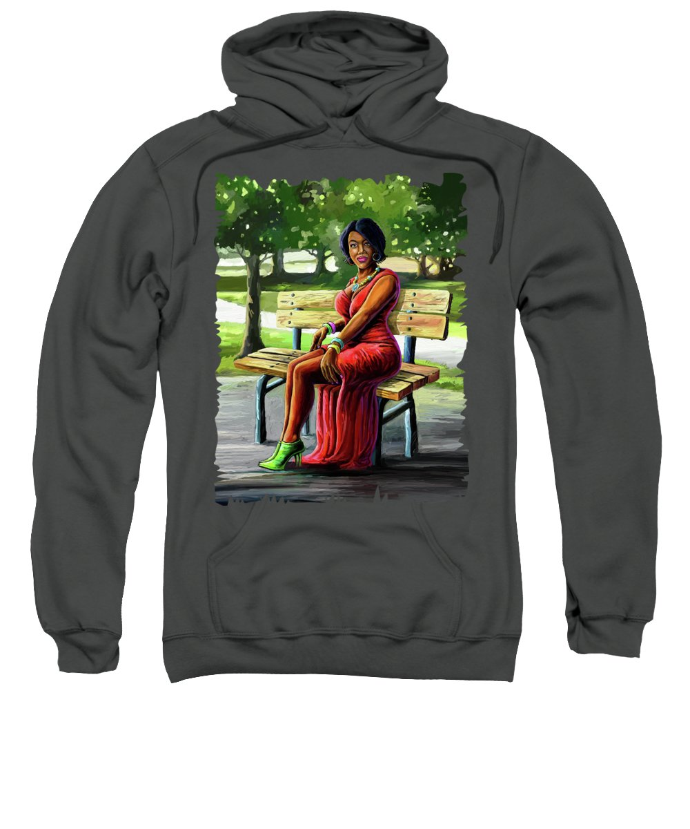 Fashion Sweatshirt featuring the painting Mismatched And Happy by Anthony Mwangi