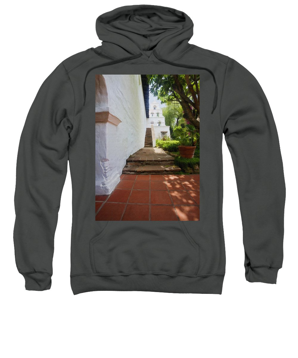 Architecture Sweatshirt featuring the photograph Mission Bells by Sharon Foster