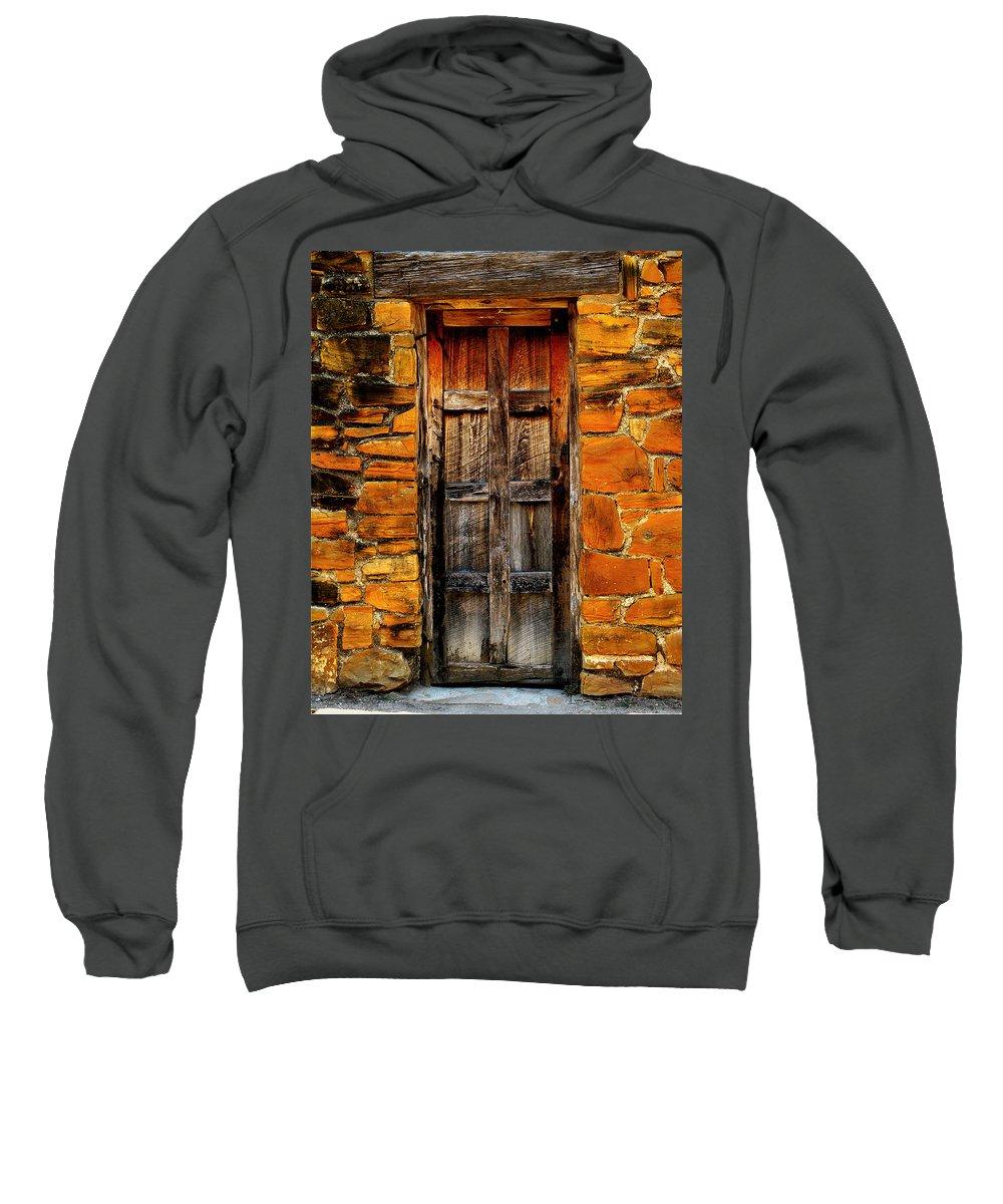 Door Sweatshirt featuring the photograph Mission Door by Perry Webster