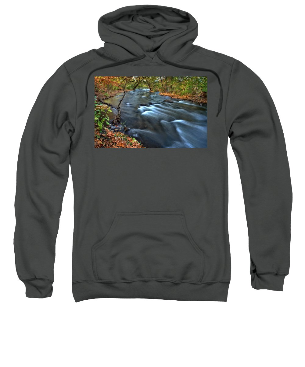 Mississippi Sweatshirt featuring the digital art Mississippi River Minneapolis by Mark Duffy