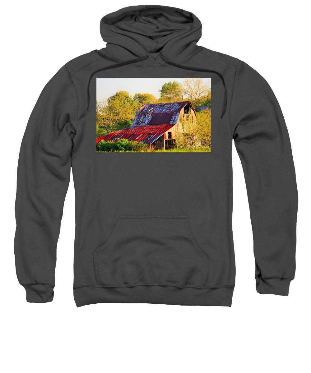Missouri Sweatshirt featuring the photograph Missouri Barn by Merle Grenz