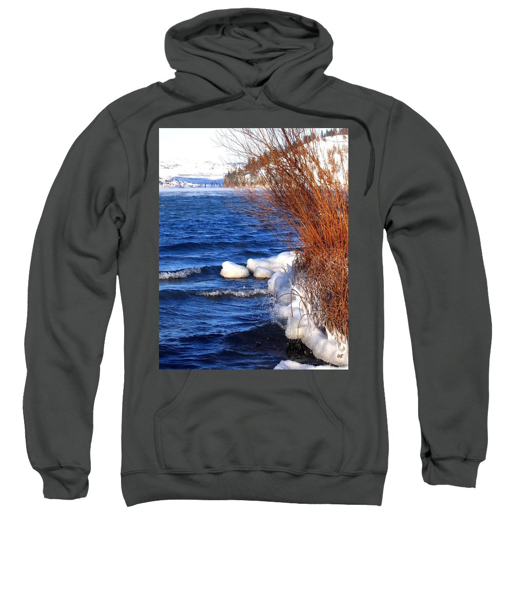 Kalamalka Sweatshirt featuring the photograph Mist On Kalamalka by Will Borden