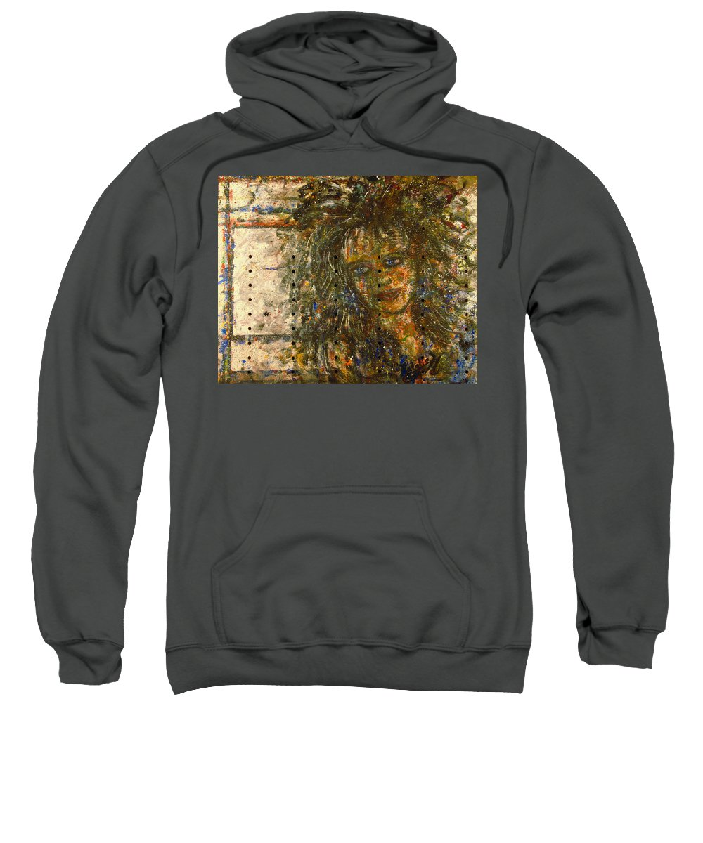 Expressionism Sweatshirt featuring the painting Mistress by Natalie Holland