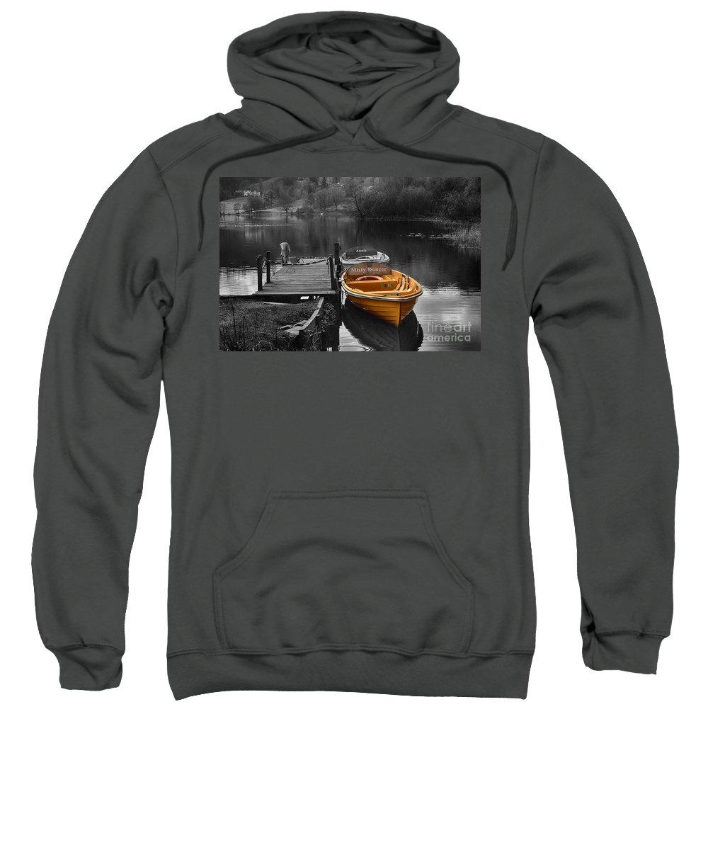 Grasmere Sweatshirt featuring the photograph Misty Dancer by Smart Aviation