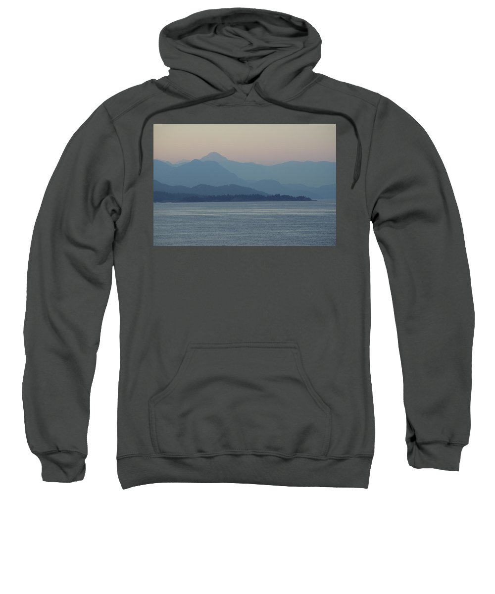 Sweatshirt featuring the photograph Misty Hills On The Strait by Cindy Johnston