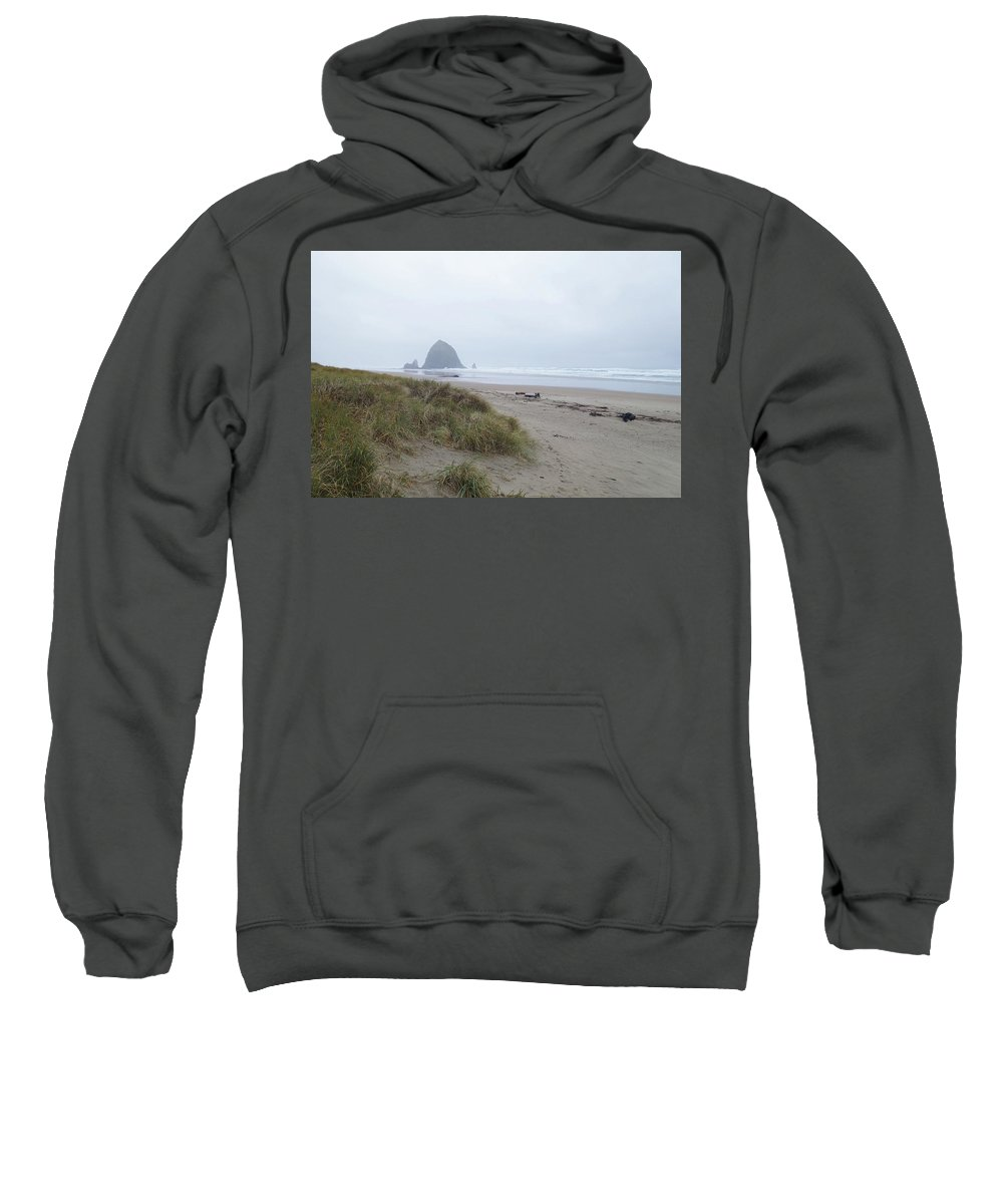 Northwest Beaches Sweatshirt featuring the photograph Misty Morning by Michael Selker