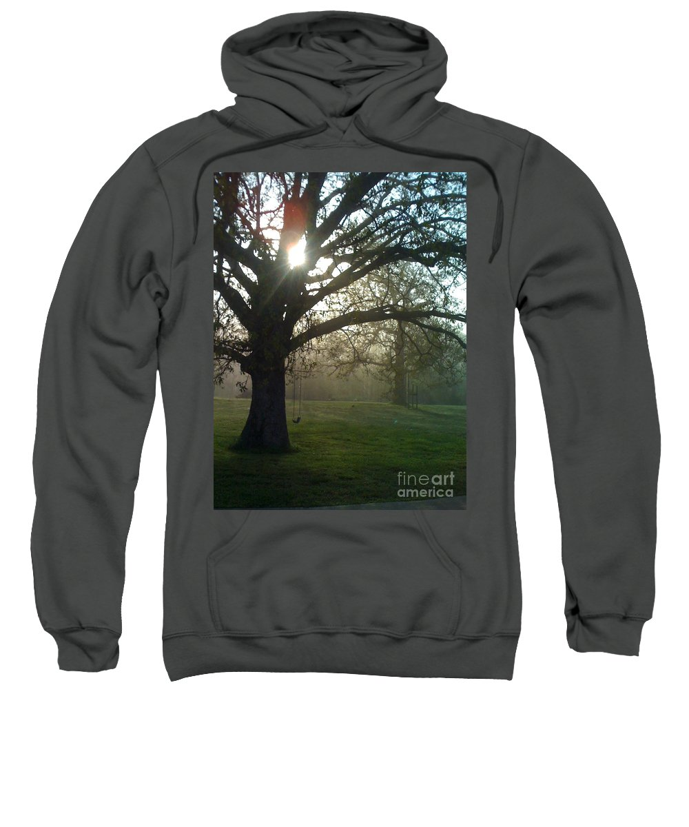 Mist Sweatshirt featuring the photograph Misty Morning by Nadine Rippelmeyer