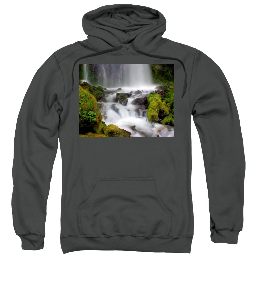 Waterfall Sweatshirt featuring the photograph Misty Waters by Marty Koch