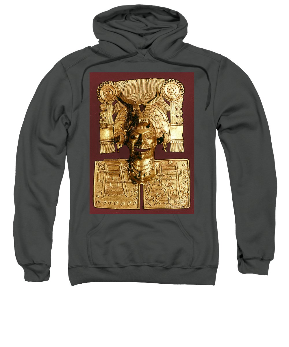 1400 Sweatshirt featuring the photograph Mixtec: God Of The Dead by Granger
