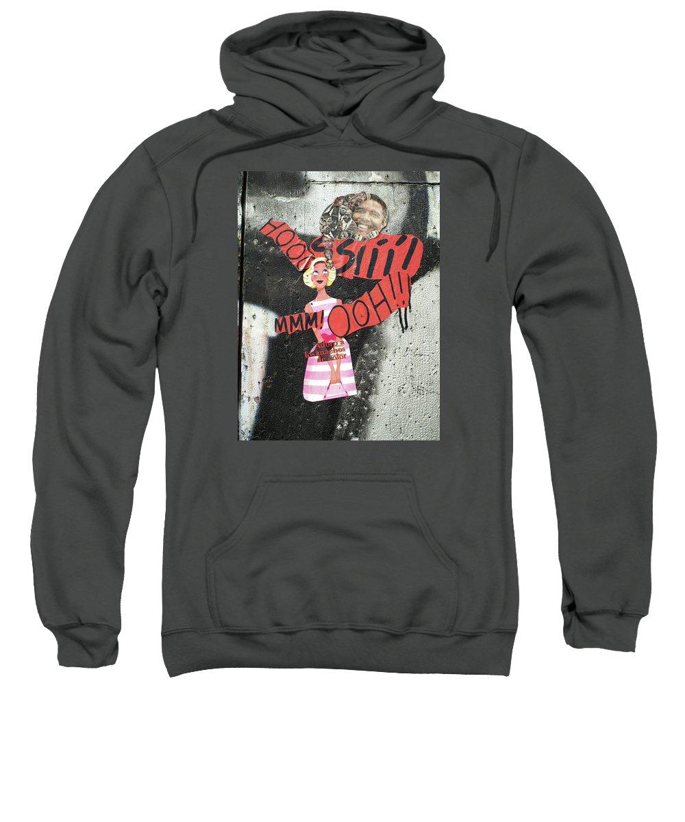 Graffiti Sweatshirt featuring the painting mmm by Roger Muntes