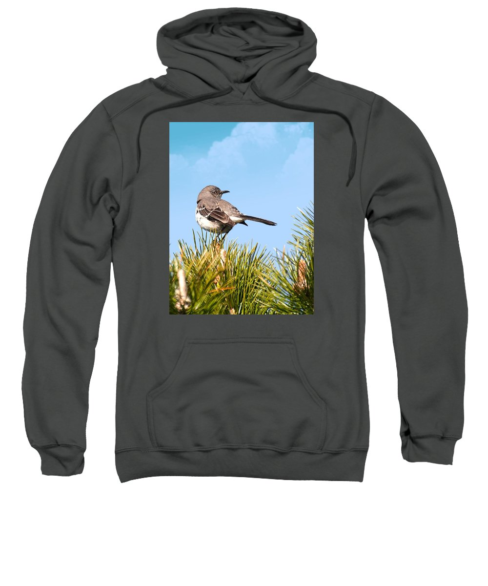 Sweatshirt featuring the photograph Mockingbird 03 by Robert Hayes
