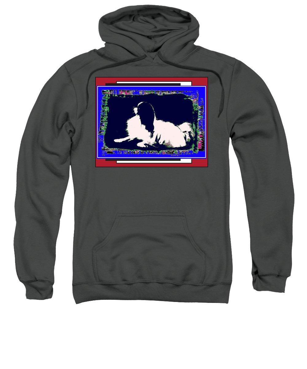 Mod Dog Sweatshirt featuring the digital art Mod Dog by Kathleen Sepulveda