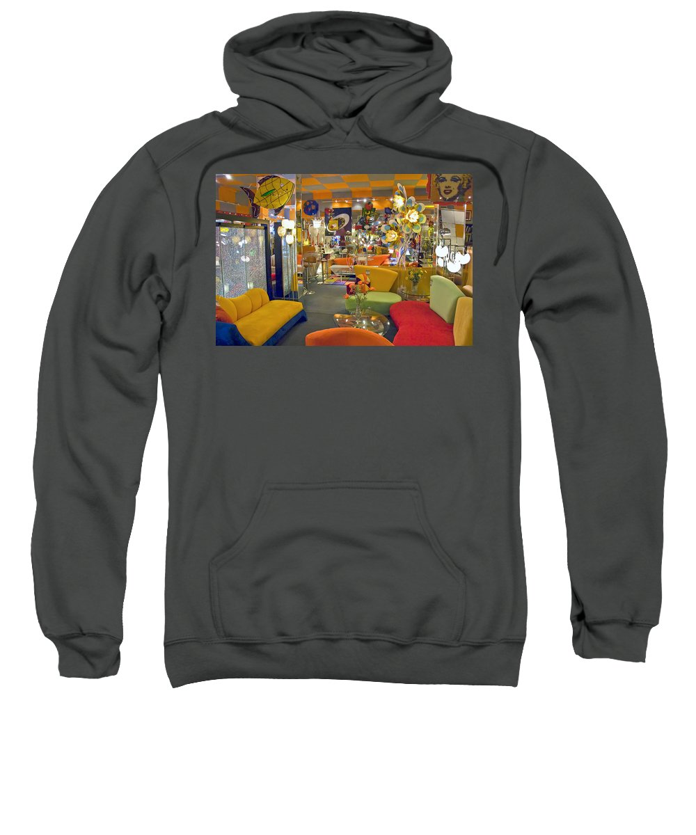 Modern Deco Furniture Store Interior Sweatshirt featuring the photograph Modern Deco Furniture Store Interior by David Zanzinger