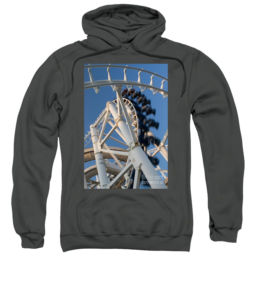 Fun Sweatshirt featuring the photograph Modern Roller Coaster by Anthony Totah