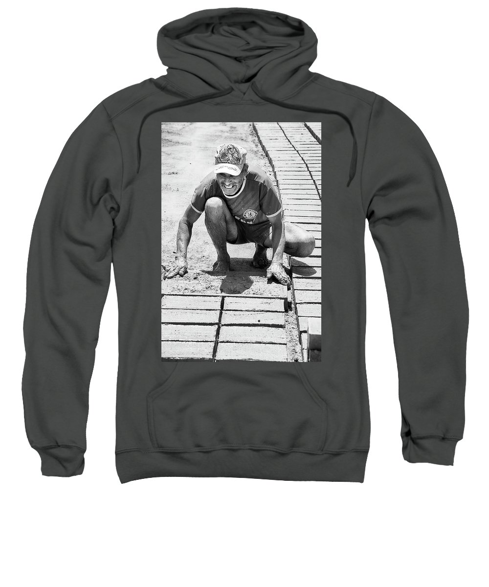Ladrillero Sweatshirt featuring the photograph Molding Bricks by Hugh Smith
