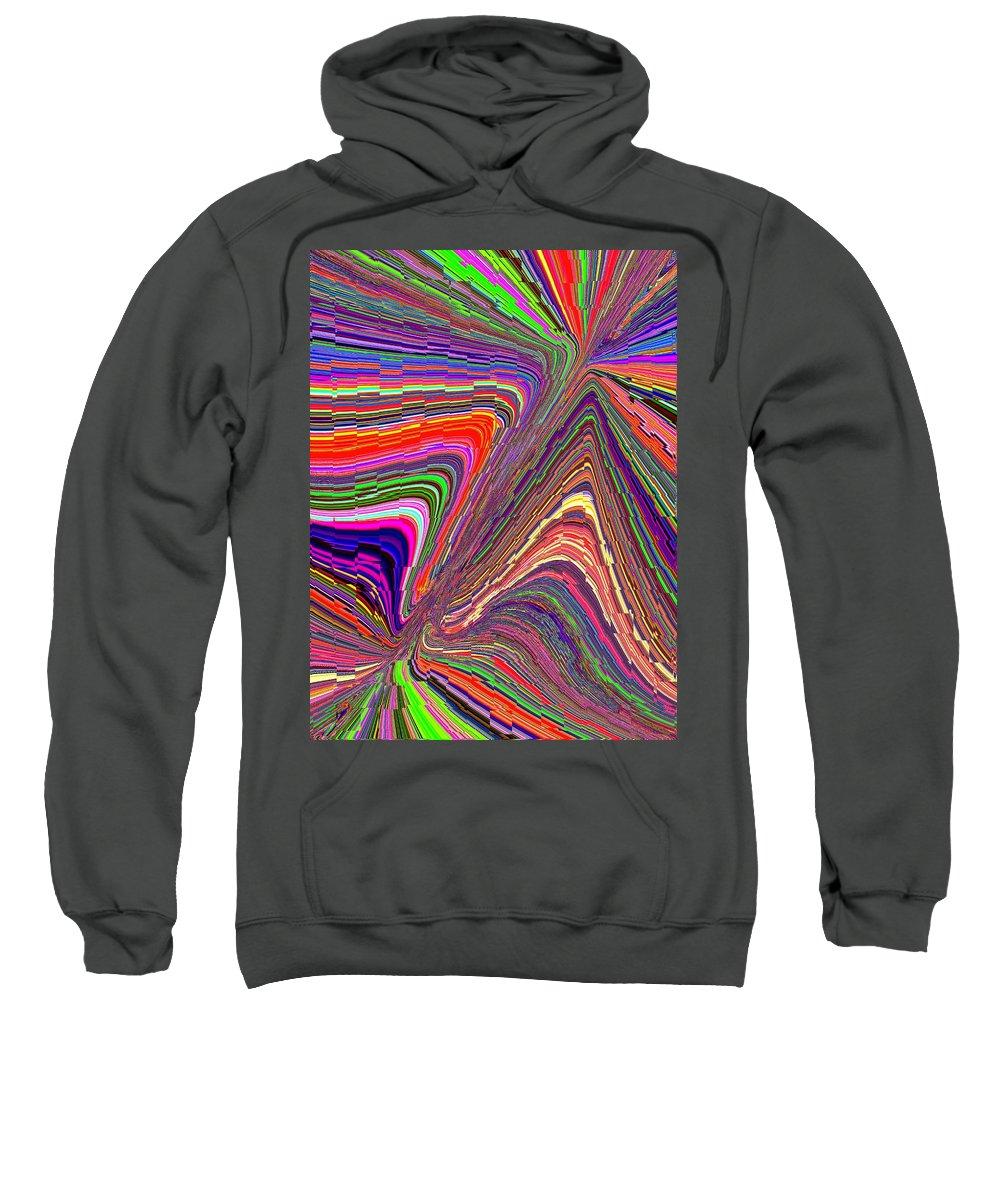 Abstract Sweatshirt featuring the digital art Molten Rainbow Redux by Tim Allen
