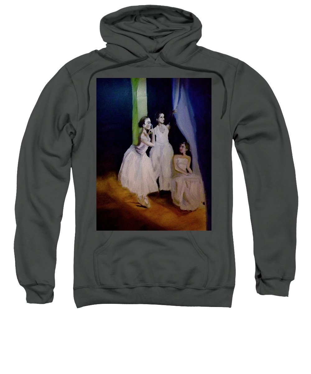 Portrait Sweatshirt featuring the painting Moment In Wait by James Henderson