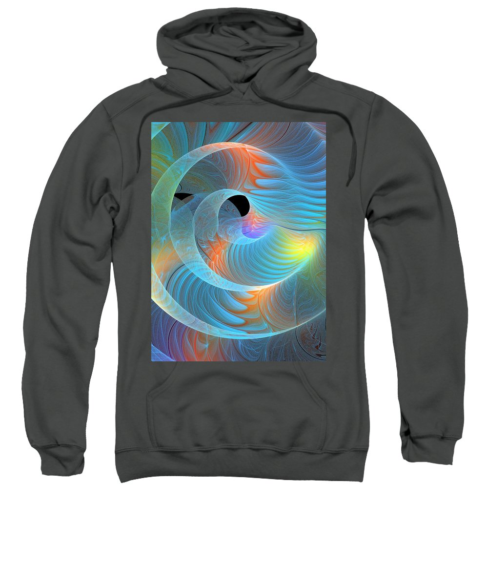 Digital Art Sweatshirt featuring the digital art Moment Of Elation by Amanda Moore