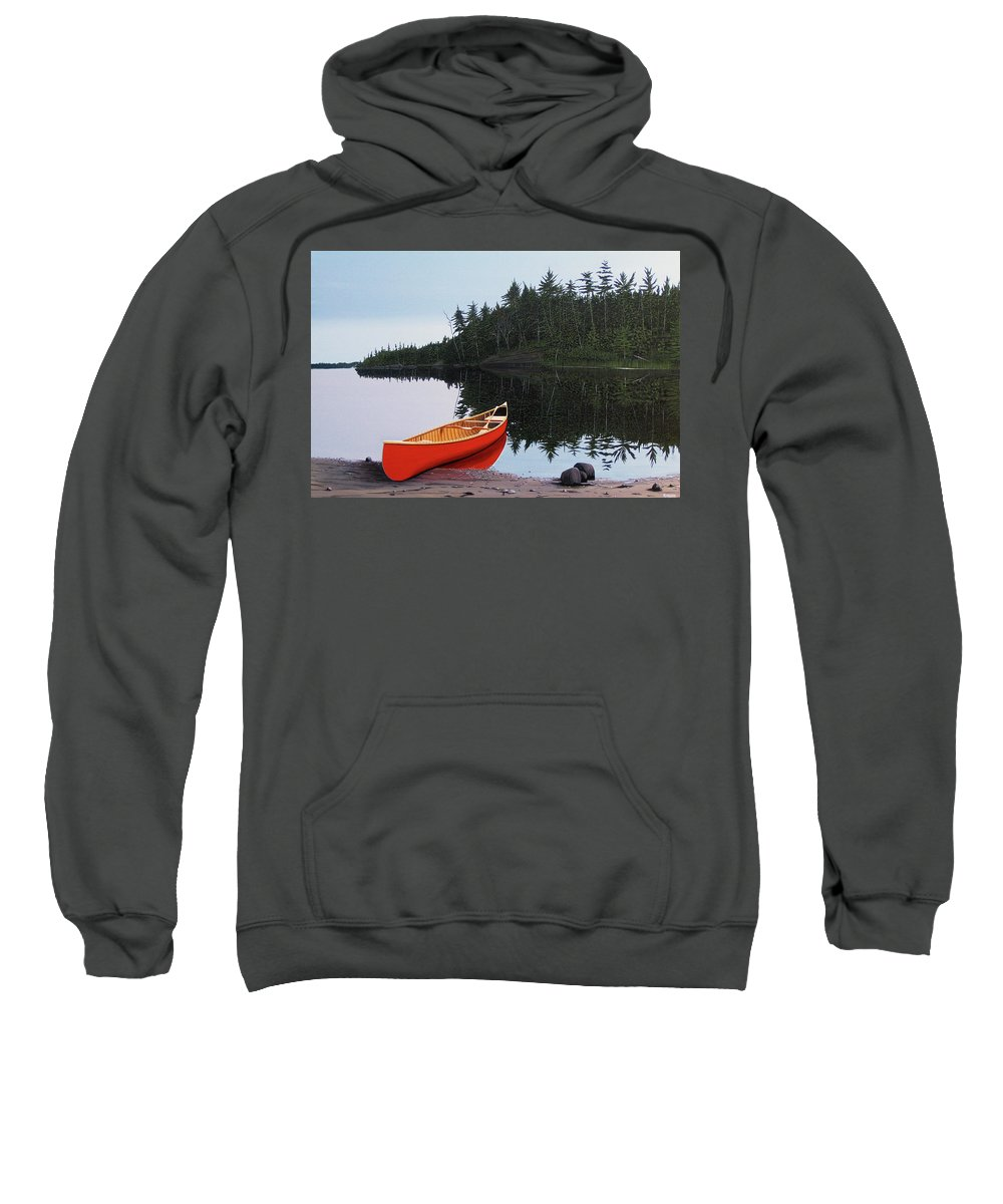 Landscapes Sweatshirt featuring the painting Moments Of Peace by Kenneth M Kirsch