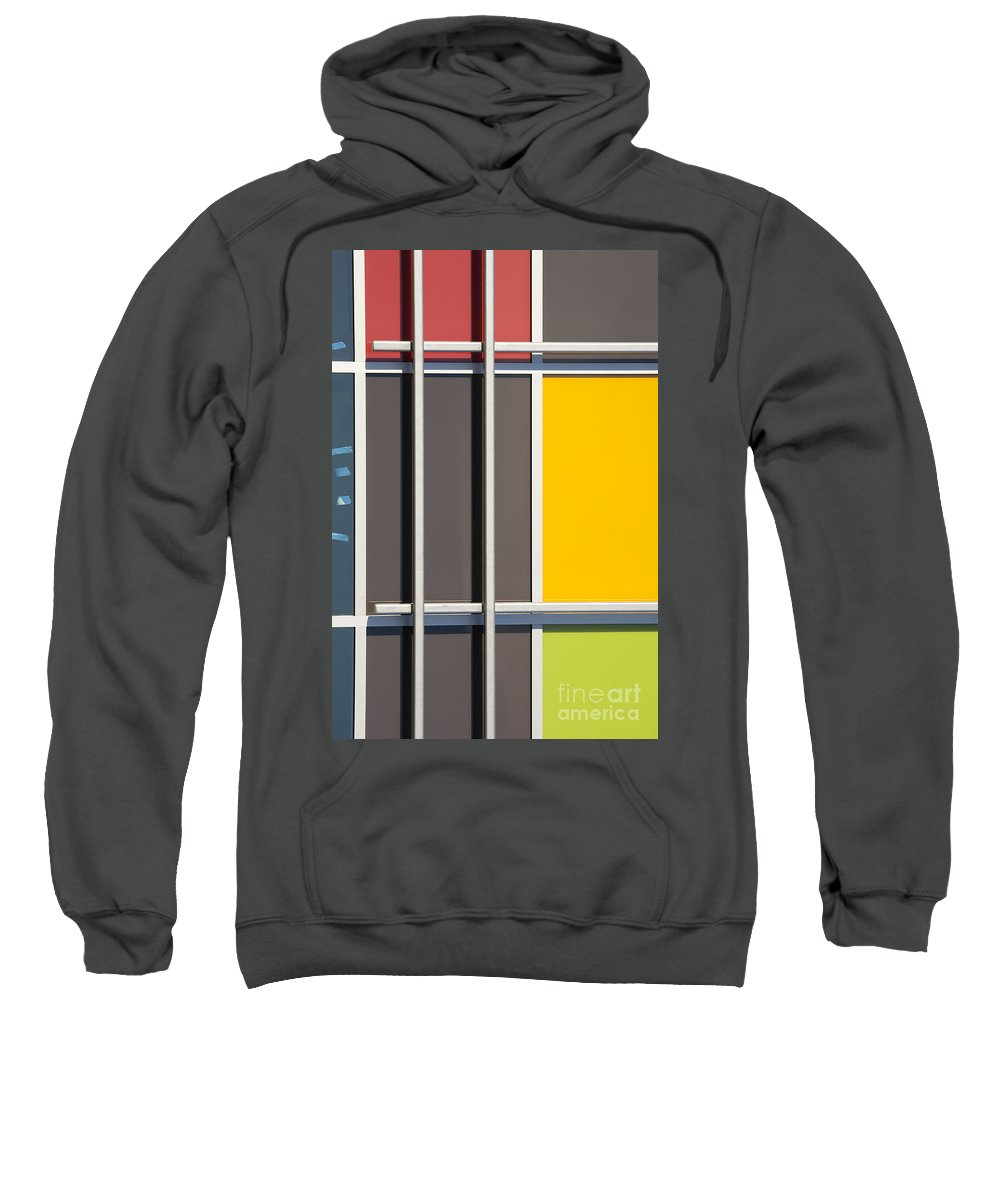 Mondrian Sweatshirt featuring the photograph Mondrian Style by Chris Dutton