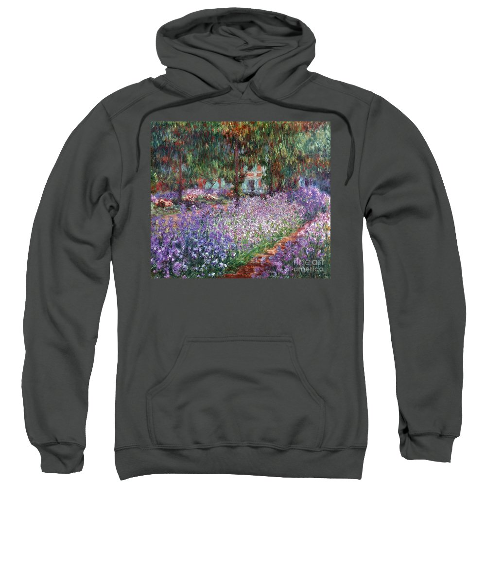 1900 Sweatshirt featuring the photograph Monet: Giverny, 1900 by Granger